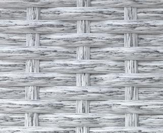 Фото -Искусственный ротанг Flat White Wood