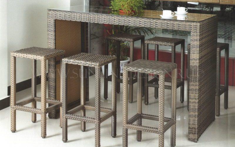 Фото - Барная плетеная мебель стойка Barista Sunlinedesign.ru