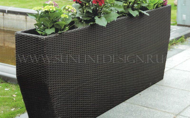 Square 150 см - кашпо из искусственного ротанга для цветов и растений!