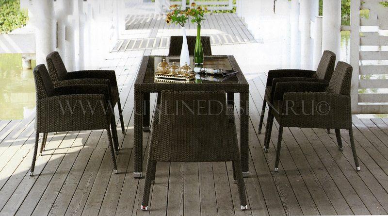 Orient diner - плетеная мебель от производителя! Гарантия 2 года! Полная адаптация под климат России!