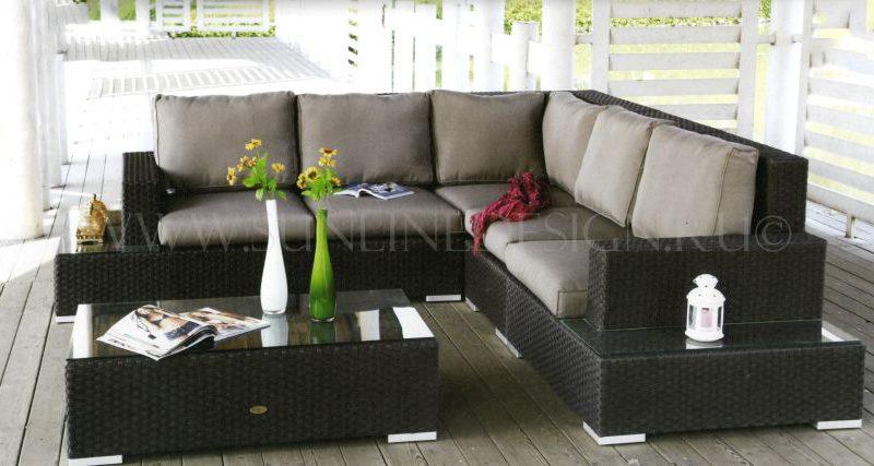 Диванная группа из искусственного ротанга Orient Grand - новинка 2017 года! Новые боковые секции сделали диван еще более комфортным , эстетически выразительным и еще более функциональным!