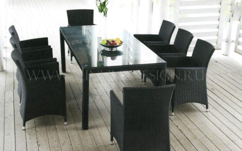Обеденная группа Orient DeLux - совершенство искусственного ротанга! Мебель достойная лучшего патио! Sunlinedesign!