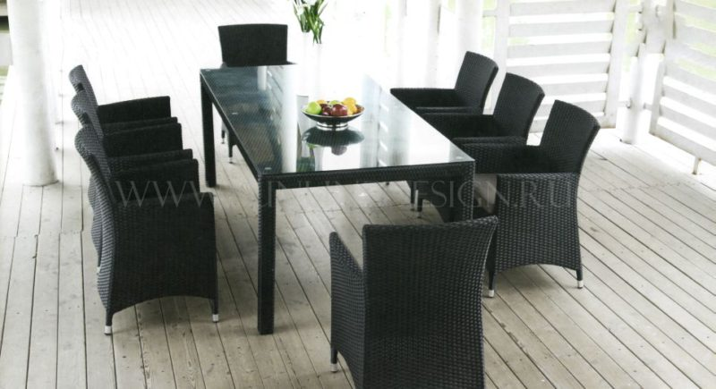 "Фото - Плетеная мебель ""Imperial"" black 8"