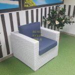 Фото - Кресло плетеное из ротанга белое Louisiana