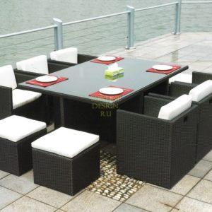 Фото -Плетеная мебель Barbados стол 180х120