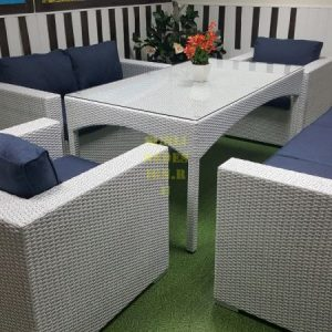 Фото -Плетеная мебель Louisiana dining white&blue