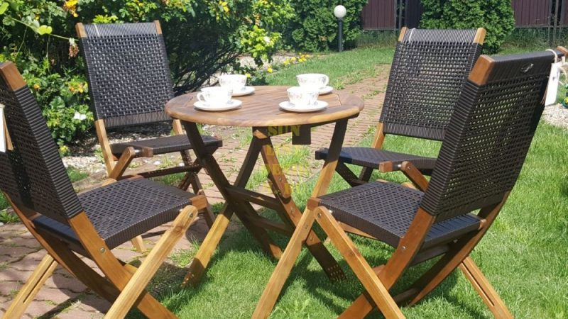 Фото - Плетеная мебель для кафе Ever коричневый тон