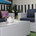 Фото-Стол из искусственного ротанга Louisiana кофейный SunlineDesign