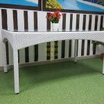 Фото-Стол из искусственного ротанга Louisiana white