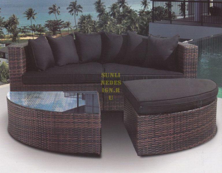 Фото - Плетеная мебель Quarter Round Sofa Set