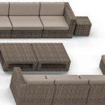 Плетеная мебель лаунж зона H