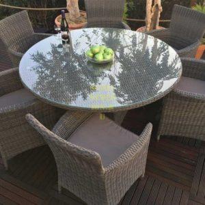 Фото - Плетеная мебель Nina beige D 120