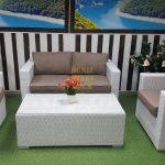 Фото - Комплект из искусственного ротанга Louisiana lounge white beige