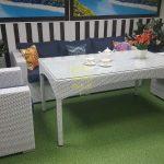 Фото-Комплект из ротанга столовая Louisiana dining lounge set