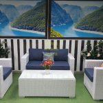 Фото - Комплект мебели из искусственного ротанга Louisiana white&blue