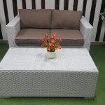 Фото - Louisiana hall set white&beige - лаунж мебель из искусственного из ротанга.