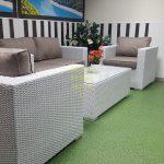 Фото - Louisiana lounge white белая плетеная мебель