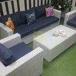 Фото - Мебель из искусственного ротанга Louisiana white&blue