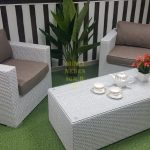 Фото-Плетеная мебель Louisiana cafe set white&beige Sunlinedesign