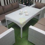 Фото-Плетеная мебель Louisiana dining white&beige