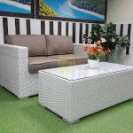 Фото-Плетеная мебель Louisiana hall set white&beige - комплект искусственного из ротанга.