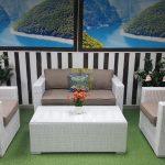 Фото - Плетеная мебель Louisiana lounge white beige