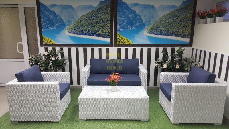 Фото - Плетеная мебель Louisiana lounge white&blue