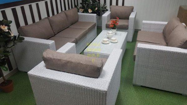 Фото - Плетеная мебель Louisiana patio set white&beige