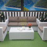Фото - Плетеная мебель Louisiana white beige Sunlinedesign