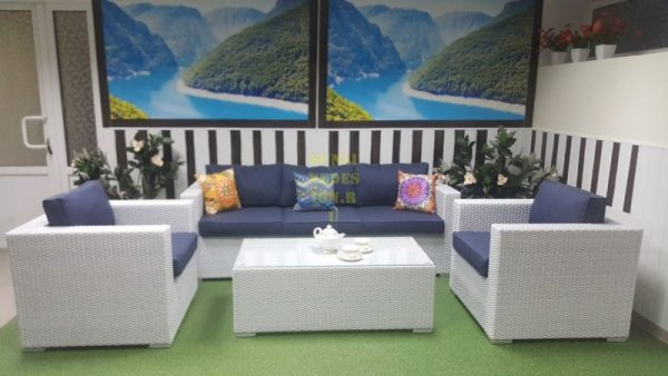 Фото - Плетеная мебель Louisiana white&blue
