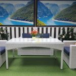 Фото-Плетеная мебель Louisiana white&blue