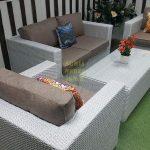 Фото - Плетеная мебель из искусственного ротанга Louisiana lounge white beige