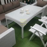 Фото-Плетеная мебель обеденная группа Dream white&beige