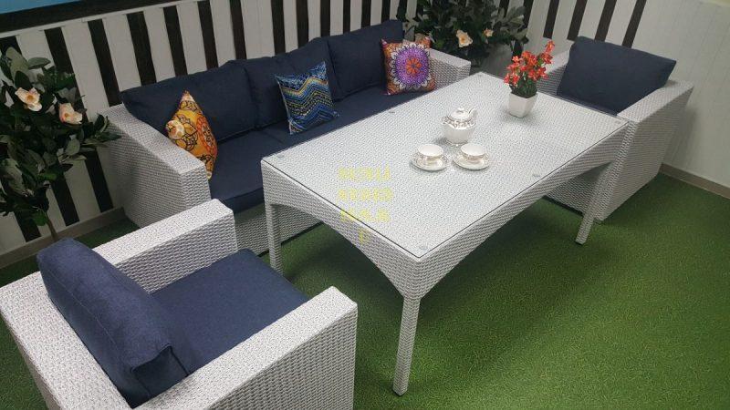 Фото-Плетеная мебель обеденная группа Louisiana dining lounge set