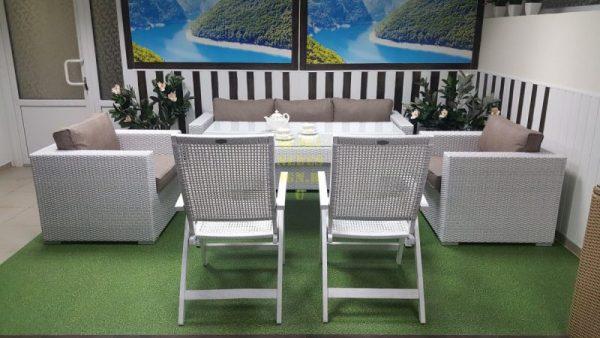 Фото - Плетеная мебель столовая Dream white&beige