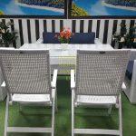 Фото-Плетеная мебель столовая Dream white&blue
