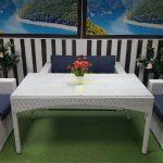 Фото - Плетеная мебель столовая Louisiana white&blue