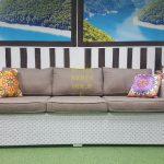 Фото - Плетеный диван Louisiana white&beige 3-х местный