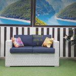 Фото - Плетеный диван Louisiana white&blue
