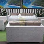Фото-Ротанг мебель Louisiana Dining Set white&beige