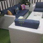 Фото- Sunlinedesign мебель из ротанга Louisiana white&blue