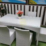 Фото-Белая плетеная мебель Rose