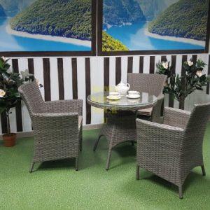 Фото-Плетеная мебельNina natur Cafe set