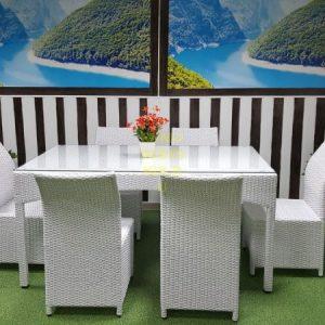 Фото-Плетеная мебель обеденная группа Louisiana & Rose Sunline Design