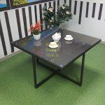 Фото-Плетеная мебель стол New York коричневый