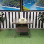 Фото-Плетеная мебель стол Samurai royal beige