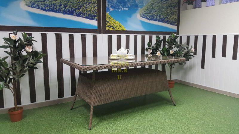Фото-Стол плетеный Samurai обеденный 160 Sunline Design