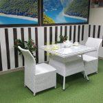 Фото-Белая плетеная мебель Rose 2 white Sunlinedesign