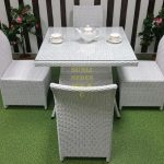 Фото-Фабрика плетеной мебели Sunline Design мебель Rose 4 white