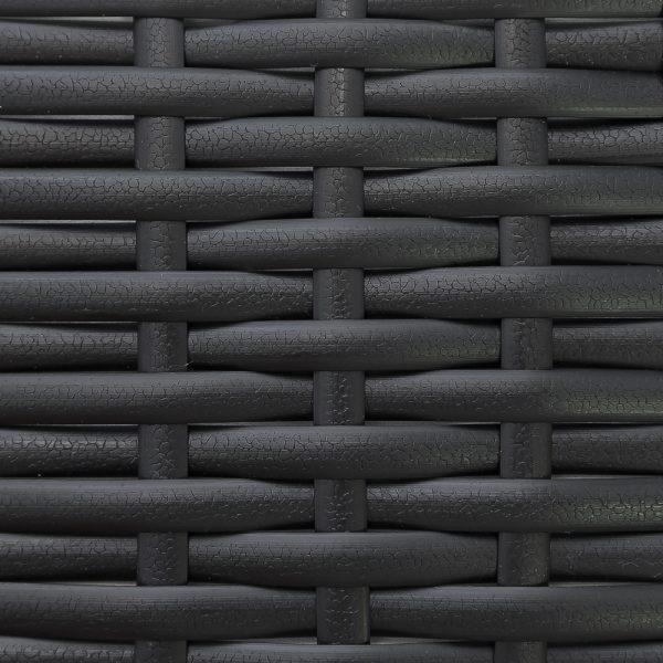 Фото-Искусственный ротан Flat Leather Black